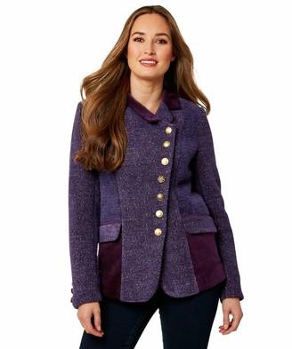 Joe Browns Womens Textured Mix and Match Panel Jacket Purple 14
