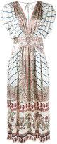 Etro V-neck paisley print dress