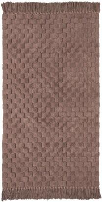 Seventh Studio Textured Solid Rug with Fringe Bedding
