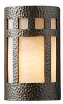 "575 Denim Krimhilde Ada Prairie Window 1-Light Flush Mount Wrought Studio Bulb Type: LED, Size: 9.5"" H x W x 4"" D"