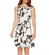 Ronni Nicole Sleeveless Floral Fit-and-Flare Dress