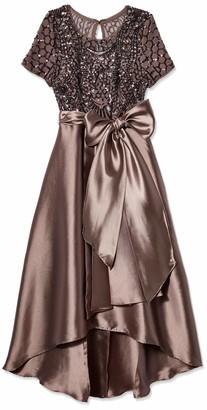 R & M Richards R&M Richards Women's hi lo Sequins Elegant Gown