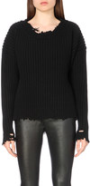 Unravel Distressed wool and cashmere-blend jumper