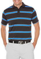 Callaway Golf Performance Short Sleeve Rugby Striped Polo Shirt