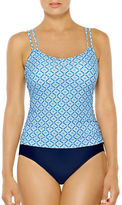 Christina Blue Printed One-Piece Swimsuit