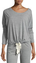 Eberjey Slouchy Drawstring Tee, Gray Heather