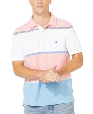 Nautica Men's Striped Colorblocked Polo, Created for Macy's