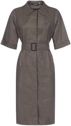 'S Max Mara Short Sleeve Belted Dress