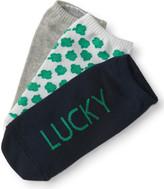 3-Pack Lucky Charm, Solid & Shamrock Ankle Socks