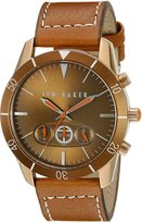 Ted Baker Men's TE1107 Dress Sport Dial Case and Strap Multi-Function Watch