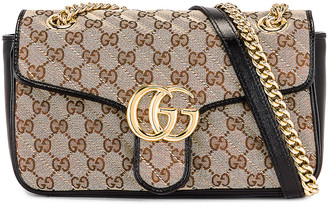 Gucci Shoulder Bag in Beige Ebony & Nero | FWRD