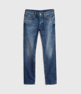 AllSaints Rex Slim Jeans, Light Indigo Blue