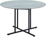 Houseology Gloster Whirl Round Dining Table 120 cm - Ceramic - Black