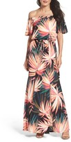 Maggy London Women's Off The Shoulder Maxi Dress