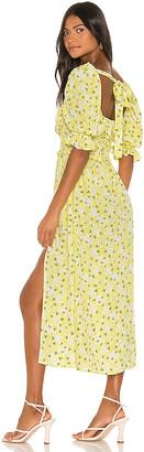 For Love & Lemons Chrysanthemum Midi Dress