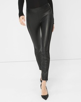 White House Black Market Vegan Leather-Front Leggings