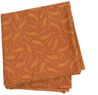 40 Colori Rust Paisley Printed Cotton Bandana