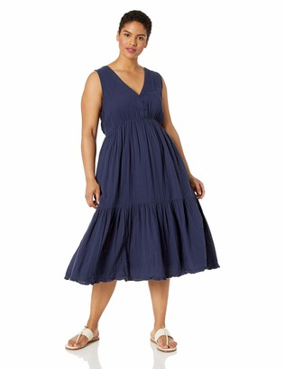 Lucky Brand Women's Plus Size Cotton Gauze Dress