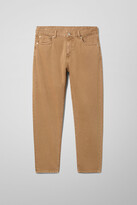 Weekday Bobbin Cropped Camel Jeans - Yellow