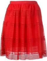 MICHAEL Michael Kors patterned panel skirt