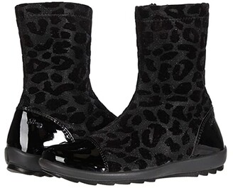 Primigi 63640 (Little Kid) (Black Patent/Black Leopard) Girl's Shoes