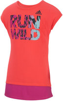 adidas Run Wild Graphic T-Shirt, Toddler & Little Girls (2T-6X)