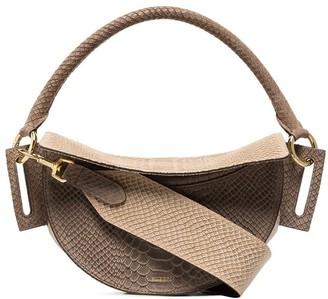 Yuzefi Dip snake-effect leather shoulder bag
