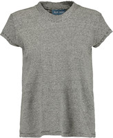 MiH Jeans Striped stretch cotton and linen-blend top