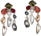Swarovski Mosaic Clip Earrings, Gold Plating