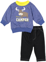 Bon Bebe Blue Moose 'Happy Camper' Sweatshirt & Pants - Infant