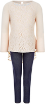 Monsoon Laura Lace Top and Jegging Set
