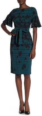 Gabby Skye Floral Waist Tie Dress (Regular & Plus Size)