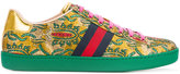 Gucci Ace brocade low-top sneakers - women - Leather/Metallized Polyester/rubber - 35