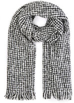 Oasis Boucle Black and White Scarf