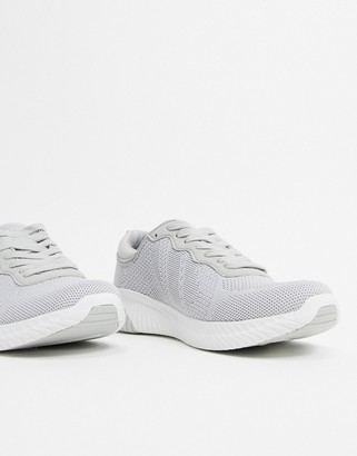 Xti lace up runner trainers in grey