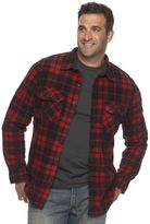 Croft & Barrow Big & Tall Classic-Fit Plaid Arctic Fleece Shirt Jacket