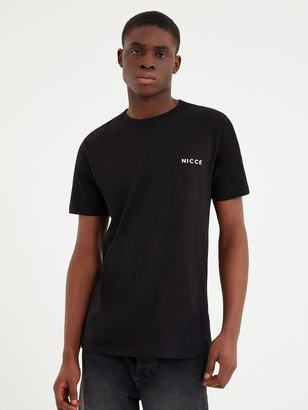 Nicce Chest Logo T-shirt - Black