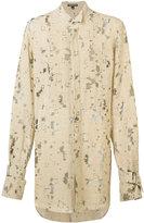 Ann Demeulemeester oversize devoré shirt - men - Linen/Flax/Nylon - S