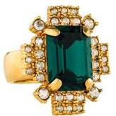 Mawi Emerald Crystal Geometric Ring