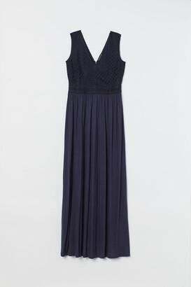 H&M Long lace-bodice dress