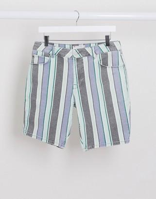 ASOS DESIGN skinny short with washed stripe