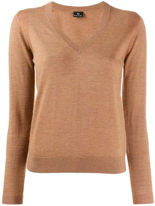 Paul Smith knitted v-neck top