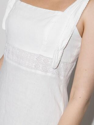 HONORINE White Claudette Linen Dress