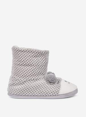 Dorothy Perkins Womens Grey Bear Booties, Grey