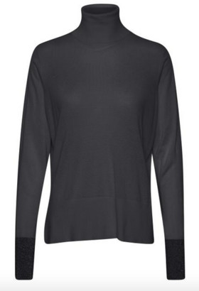 Soaked in Luxury - Silky Rollneck Pullover LS - XS | viscose | blue grey - Blue grey