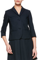 RED Valentino Short 3/4-Sleeve Jacket with Bow, Black