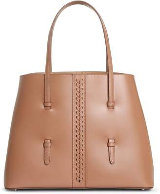 Alaia Mina Medium sahara leather tote bag