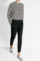 Max Mara Tapered Pants with Leather