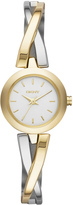 DKNY Crosswalk Two-Tone Bangle Watch