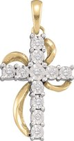 Jawa Fashion 1/8 Total Carat Weight DIAMOND LADIES CROSS PENDANT